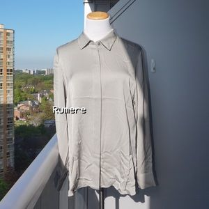 🔮 Rumere 93% Silk Blouse in French Grey (40)